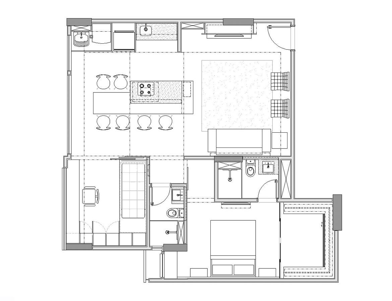 Renovated Kitchen Apartment